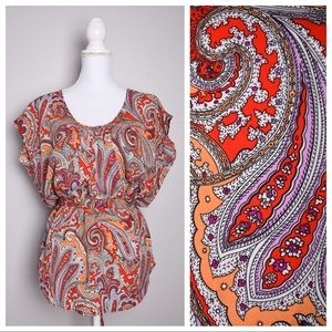 💕3for$20💕 New York & Co Colorful Paisley Tunic